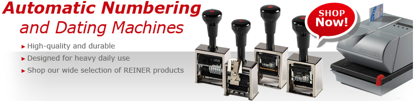 REINER AUTOMATIC NUMBERING AND DATING MACHINES