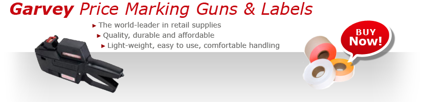 GARVEY PRICE MARKING GUNS AND LABELS