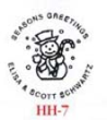 Snowman HH7 Embosser creates a beautiful embossed impression, visit AtoZstamps.com for more