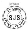 ES-EXLIB-B - Ex Libris Embossing Seal