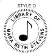 ES-LIB-O - Library of with Musical Note Embossing Seal