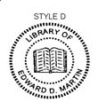 ES-LIB-D - Library of with Book Embossing Seal