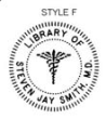 ES-LIB-F - Library of with Caduceus Embossing Seal