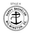ES-BACHELOR-H - Happy Bachelor Embossing Seal