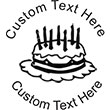 Birthday Cake Embossing Seal. Choose your mount and view your custom text in a live preview. Find all your custom embossing needs at atozstamps.com