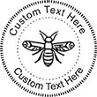 Bee-1 Embossing Seal. Choose your mount and view your custom text in a live preview. Find all your custom embossing needs at atozstamps.com