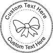 Bow Embossing Seal. Choose your mount and view your custom text in a live preview. Find all your custom embossing needs at Embossingseal.com