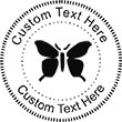 Butterfly Embossing Seal. Choose your mount and view your custom text in a live preview. Find all your custom embossing needs at Embossingseal.com
