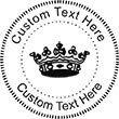 Crown-3 Embossing Seal. Choose your mount and view your custom text in a live preview. Find all your custom embossing needs at atozstamps.com