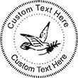 Dove-2 Embossing Seal. Choose your mount and view your custom text in a live preview. Find all your custom embossing needs at atozstamps.com