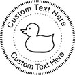 Duck Embossing Seal. Choose your mount and view your custom text in a live preview. Find all your custom embossing needs at atozstamps.com