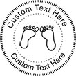 Feet Embossing Seal. Choose your mount and view your custom text in a live preview. Find all your custom embossing needs at,atozstamps.com