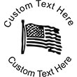 Flag Embossing Seal. Choose your mount and view your custom text in a live preview. Find all your custom embossing needs at atozstamps.com