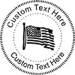 Flag Embossing Seal. Choose your mount and view your custom text in a live preview. Find all your custom embossing needs at Embossingseal.com