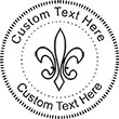 Fleur Embossing Seal. Choose your mount and view your custom text in a live preview. Find all your custom embossing needs at atozstamps.com