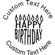 Happy Birthday Embossing Seal. Choose your mount and view your custom text in a live preview. Find all your custom embossing needs at atozstamps.com
