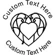 Heart-2 Embossing Seal. Choose your mount and view your custom text in a live preview. Find all your custom embossing needs at atozstamps.com