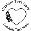 Heart-3 Embossing Seal. Choose your mount and view your custom text in a live preview. Find all your custom embossing needs at atozstamps.com