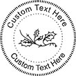 Holly Embossing Seal. Choose your mount and view your custom text in a live preview. Find all your custom embossing needs at AtoZstamps.com