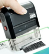 Self Inking Stamp, 2 Sided, Re-inkable Ink Pad, Thousands of Quality Impressions
