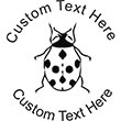 Ladybug Embossing Seal. Choose your mount and view your custom text in a live preview. Find all your custom embossing needs at AtoZstamps.com