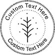 Leaf Embossing Seal. Choose your mount and view your custom text in a live preview. Find all your custom embossing needs at AtoZstamps.com