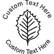 Leaf-2 Embossing Seal. Choose your mount and view your custom text in a live preview. Find all your custom embossing needs at AtoZstamps.com