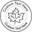 Leaf-3 Embossing Seal. Choose your mount and view your custom text in a live preview. Find all your custom embossing needs at AtoZstamps.com