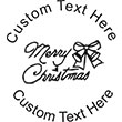 MERRYXMAS Embossing Seal. Choose your mount and view your custom text in a live preview. Find all your custom embossing needs at AtoZstamps.com