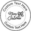 MERRYXMAS Embossing Seal. Choose your mount and view your custom text in a live preview. Find all your custom embossing needs at Embossingseal.com