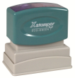 "This stamp is great for Bank Endorsements and Larger Message Stamps. Impression size is 1"" X 2"". Visit AtoZstamps.com"