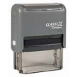 ClassiX self-inking stamps feature precision components for a smooth, quiet action and many years of trouble free operation. Used for return addresses, custom messages or company branding stamps.