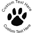 Paw Embossing Seal. Choose your mount and view your custom text in a live preview. Find all your custom embossing needs at atozstamps.com