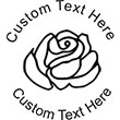 Rose-1 Embossing Seal. Choose your mount and view your custom text in a live preview. Find all your custom embossing needs at atozstamps.com