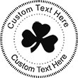 Shamrock Embossing Seal. Choose your mount and view your custom text in a live preview. Find all your custom embossing needs at atozstamps.com