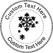 Snow-1 Embossing Seal. Choose your mount and view your custom text in a live preview. Find all your custom embossing needs at atozstamps.com