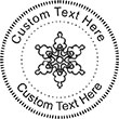 Snow-2 Embossing Seal. Choose your mount and view your custom text in a live preview. Find all your custom embossing needs at atozstamps.com