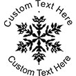Snow-3 Embossing Seal. Choose your mount and view your custom text in a live preview. Find all your custom embossing needs at atozstamps.com