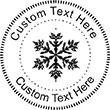 Snow-4 Embossing Seal. Choose your mount and view your custom text in a live preview. Find all your custom embossing needs at atozstamps.com