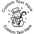 Snowman Embossing Seal. Choose your mount and view your custom text in a live preview. Find all your custom embossing needs at atozstamps.com