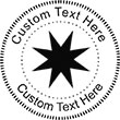 Star-2 Embossing Seal. Choose your mount and view your custom text in a live preview. Find all your custom embossing needs at atozstamps.com