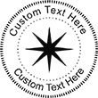 Star-3 Embossing Seal. Choose your mount and view your custom text in a live preview. Find all your custom embossing needs at atozstamps.com