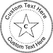 Star-97 Embossing Seal. Choose your mount and view your custom text in a live preview. Find all your custom embossing needs at atozstamps.com
