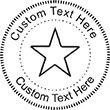 Star Embossing Seal. Choose your mount and view your custom text in a live preview. Find all your custom embossing needs at atozstamps.com