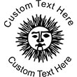 Sun-1 Embossing Seal. Choose your mount and view your custom text in a live preview. Find all your custom embossing needs at atozstamps.com