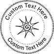Sun-2 Embossing Seal. Choose your mount and view your custom text in a live preview. Find all your custom embossing needs at atozstamps.com