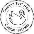 Swan-1 Embossing Seal. Choose your mount and view your custom text in a live preview. Find all your custom embossing needs at atozstamps.com