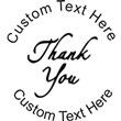 Thank You Embossing Seal. Choose your mount and view your custom text in a live preview. Find all your custom embossing needs at atozstamps.com