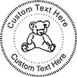Teddy Embossing Seal. Choose your mount and view your custom text in a live preview. Find all your custom embossing needs at atozstamps.com