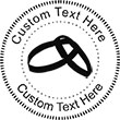 WedRing Embossing Seal. Choose your mount and view your custom text in a live preview. Find all your custom embossing needs at atozstamps.com